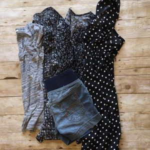 Black, Blue, & Grey Maternity Bundle